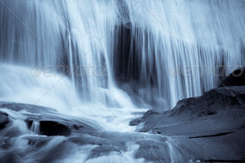 Download blue waterfall background