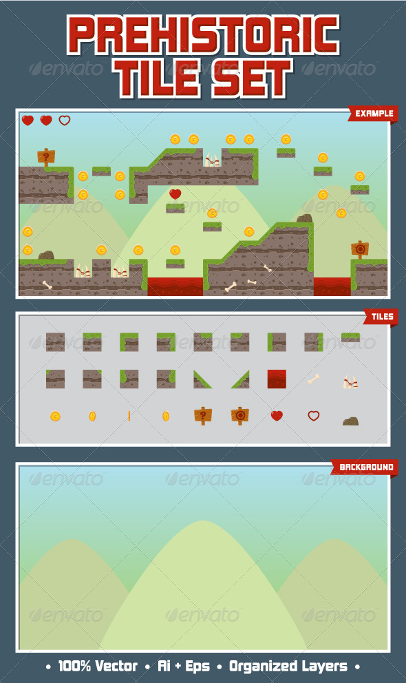 Cute Game Tilesets from GraphicRiver