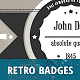 Retro and Vintage Badges Collection Vol. 1 - GraphicRiver Item for Sale