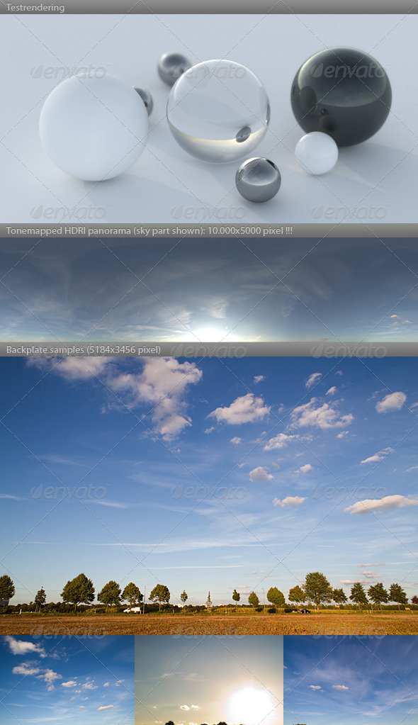 Cloudy Blue Sky HDRI Images from 3DOcean