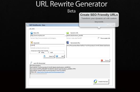 URL Rewrite Generator