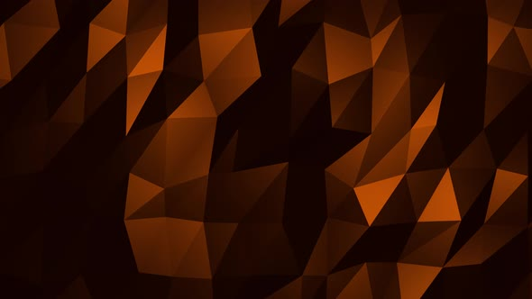 Orange Abstract Low Poly Triangle Background Loop 4K