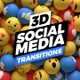 Social Media Transitions 3D - VideoHive Item for Sale