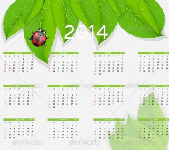 2014 New Year Nature Calendar