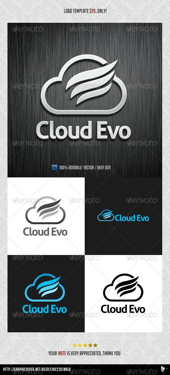 Evolution Cloud Logo Template
