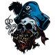 Vintage Pirate Skull Tattoo  - GraphicRiver Item for Sale