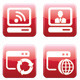 Red Web Icon Set - GraphicRiver Item for Sale