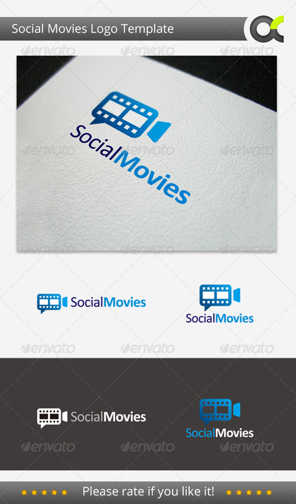 Social Movies Logo Template