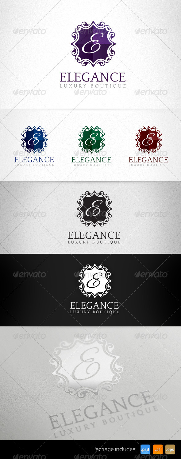 Elegance Luxury Boutique Exclusive Logo