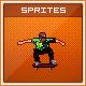 Retro Skateboarding Game Scene - Sprite Sheets - GraphicRiver Item for Sale