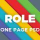 Role - OnePage Portfolio PSD - ThemeForest Item for Sale