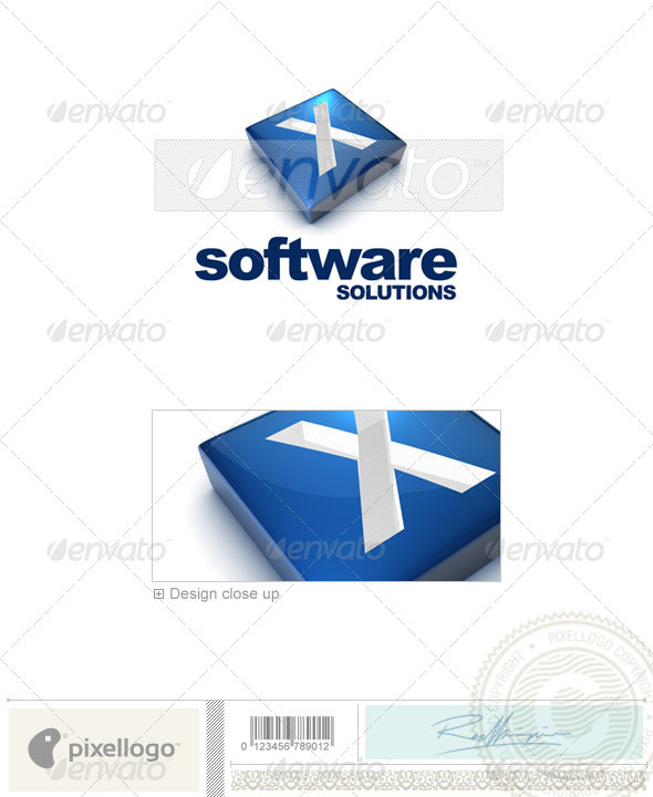 X Logo - 3D-644-X