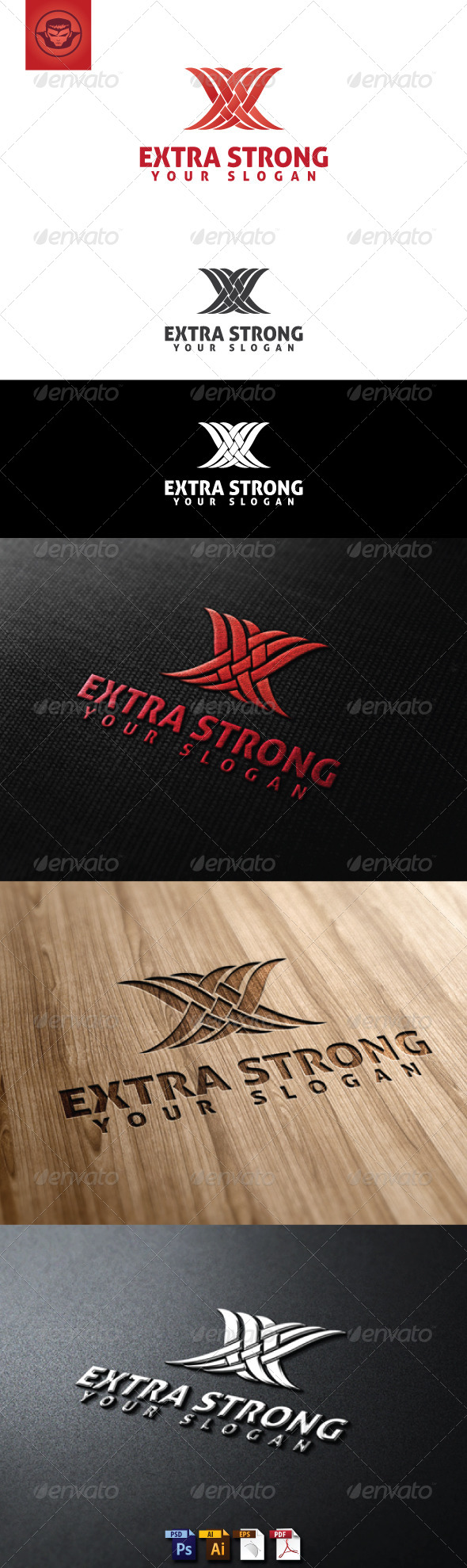 Extra Strong Logo Template