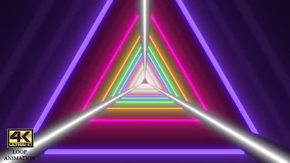 Triangle Colorful Tunnel