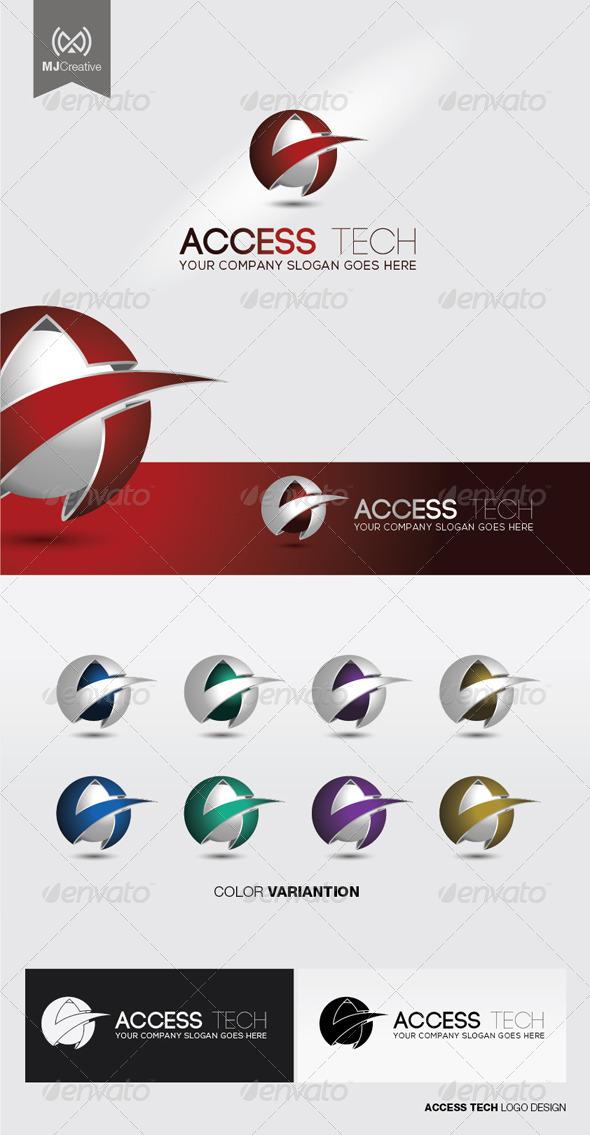 A Tech 3D Logo