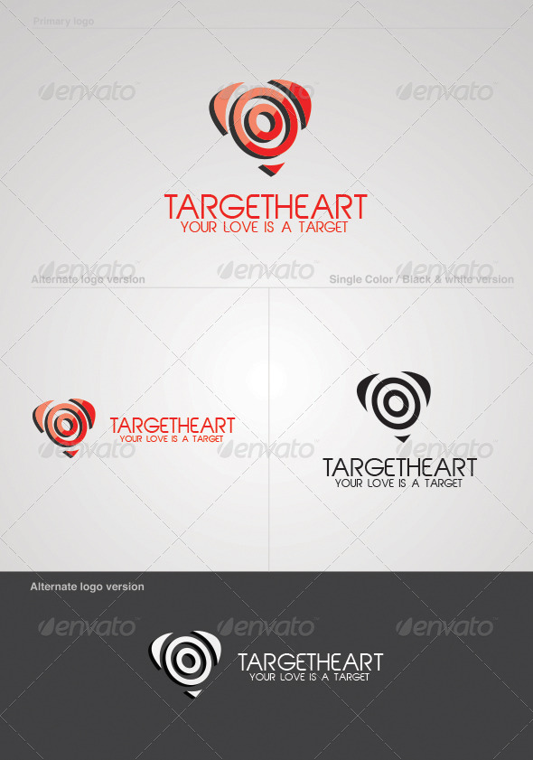Target Heart Logo Template