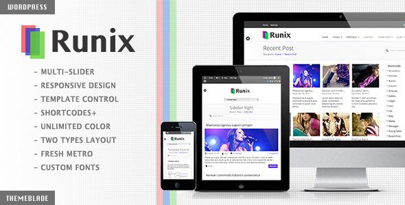 Runix – Business Responsive WordPress Theme Nulled