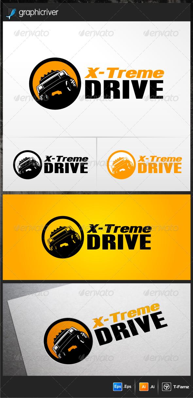 X-treme Drive Logo Template