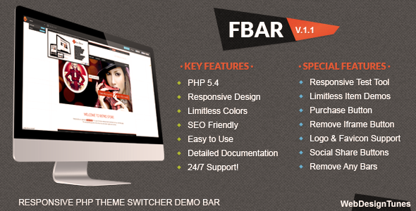 FBar Responsive PHP Theme, Switcher Demo Bar, fbar theme free download, fbar php theme download, fbar php script theme download,