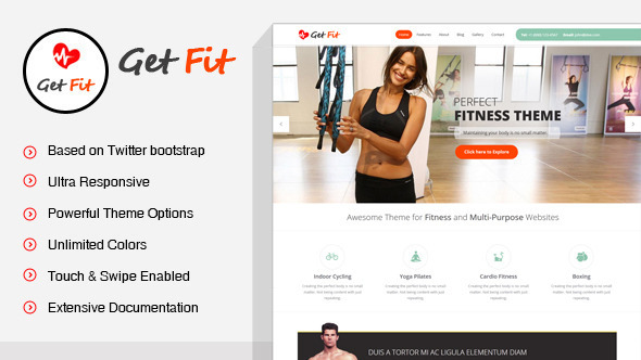 GetFit - Fitness Gym WordPress Theme