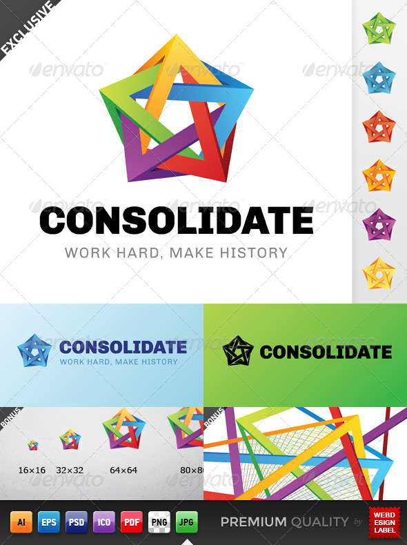 Colorful 3D Logos from GraphicRiver