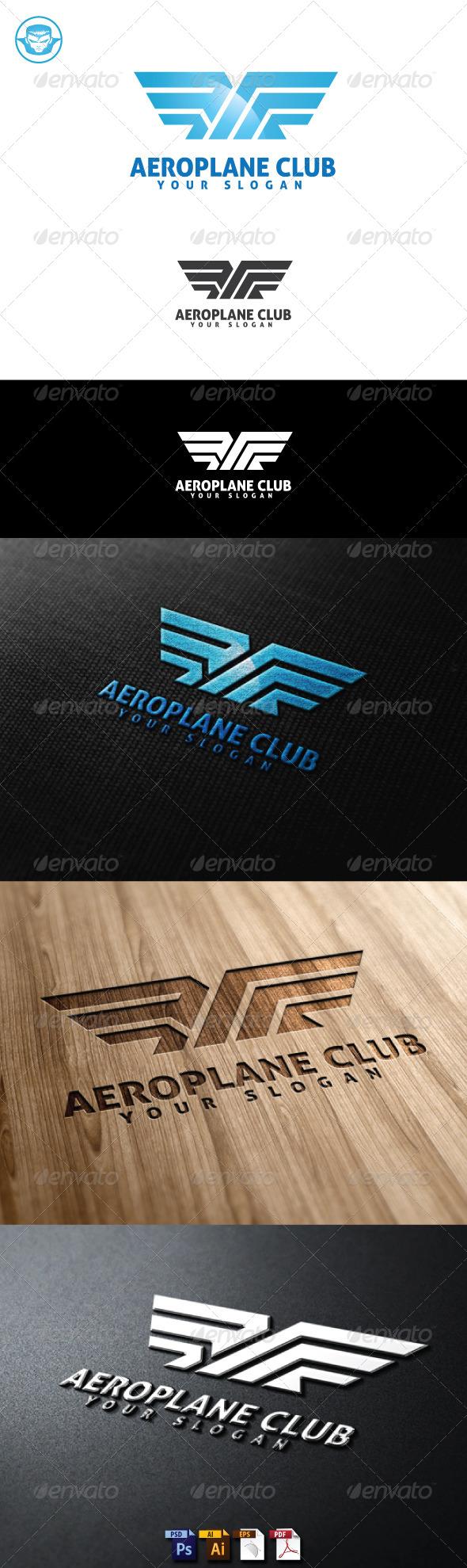 Aeroplane Club Logo Template