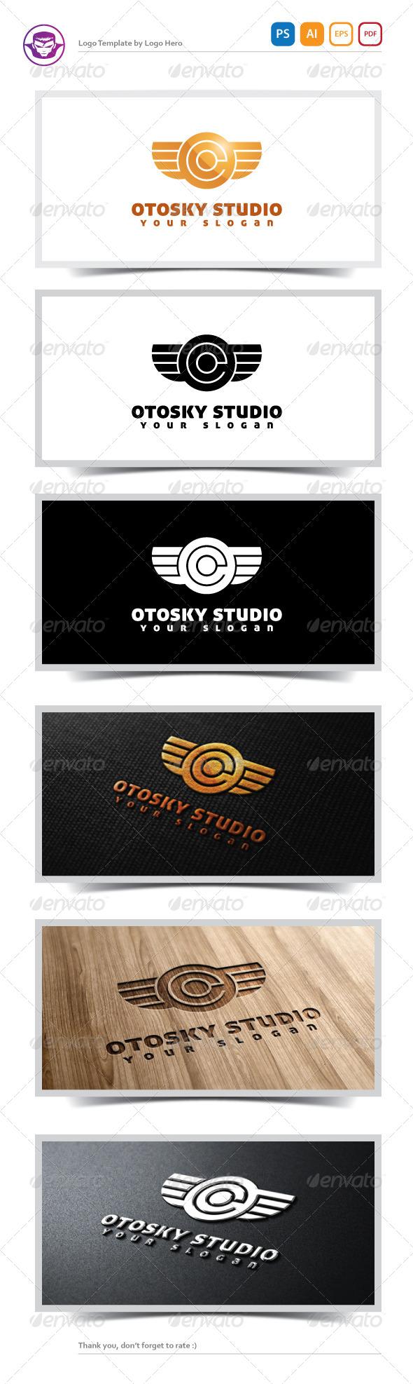 Otosky Studio Logo Template