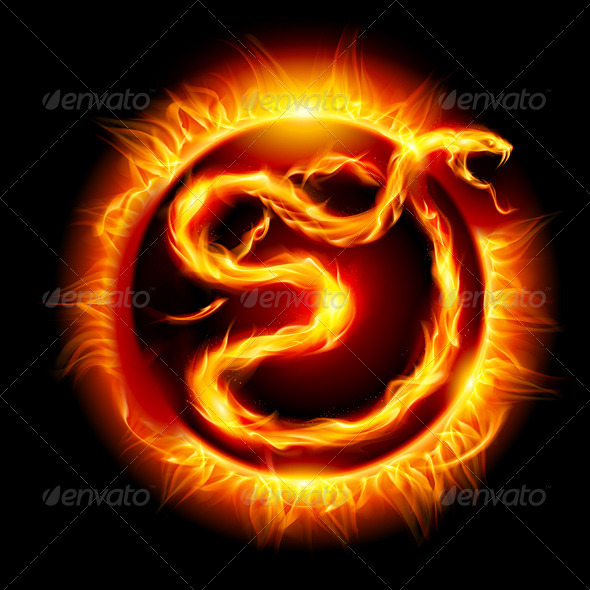 Snake made of Flames