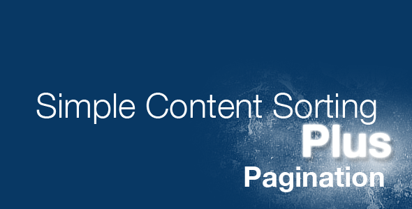 jQuery Simple Content Sorting Plus Plugin