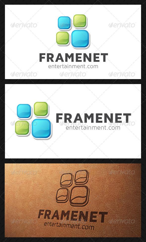 Frame Squares Logo Template