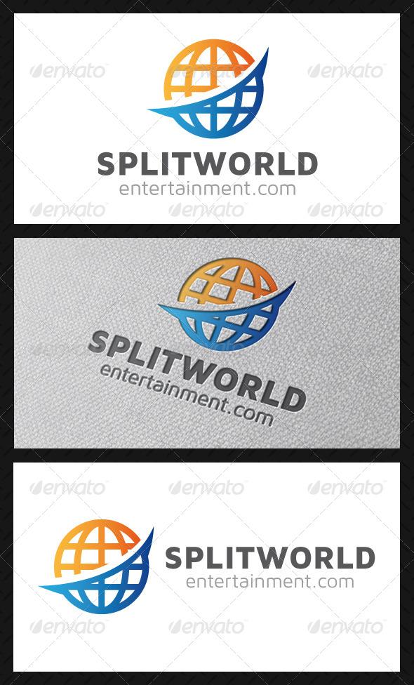 Split World Logo Template
