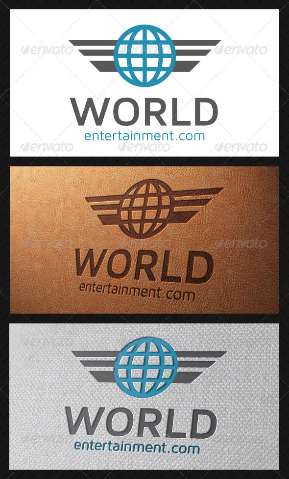 World Wings Logo Template