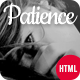 Patience - Responsive Coming Soon HTML5 Template - ThemeForest Item for Sale