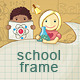 School Frame with Children - GraphicRiver Item for Sale