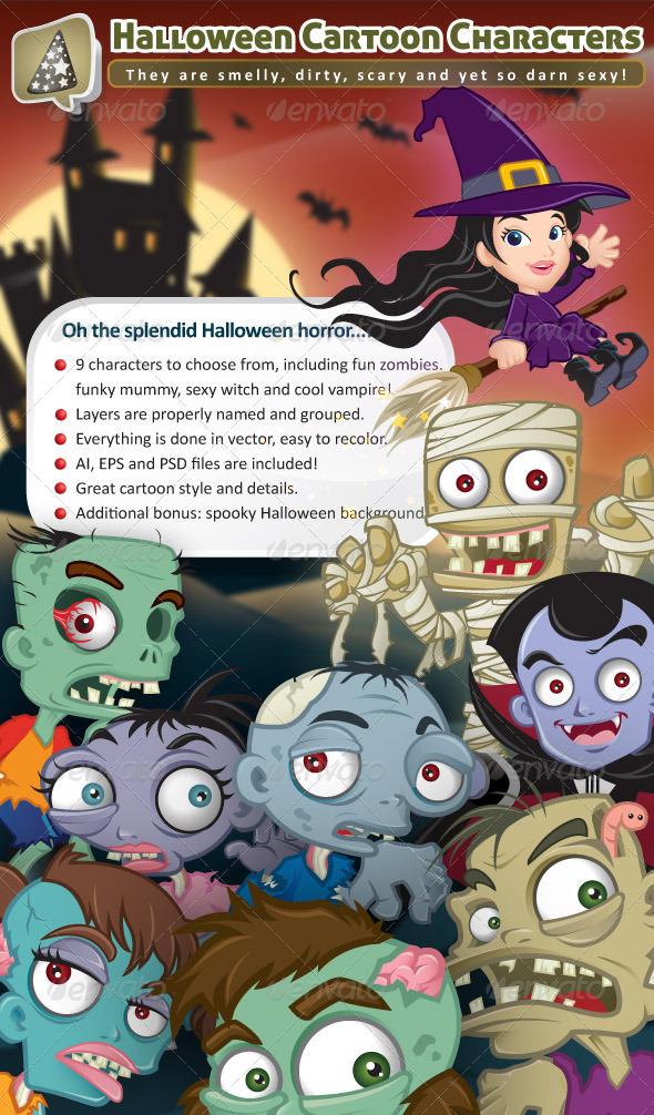 Fun Halloween Cartoon Characters