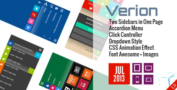 Verion - Widget Accordion Sidebar CSS