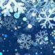 Christmas Blue Snowflake Background with Glitter Particles  - VideoHive Item for Sale