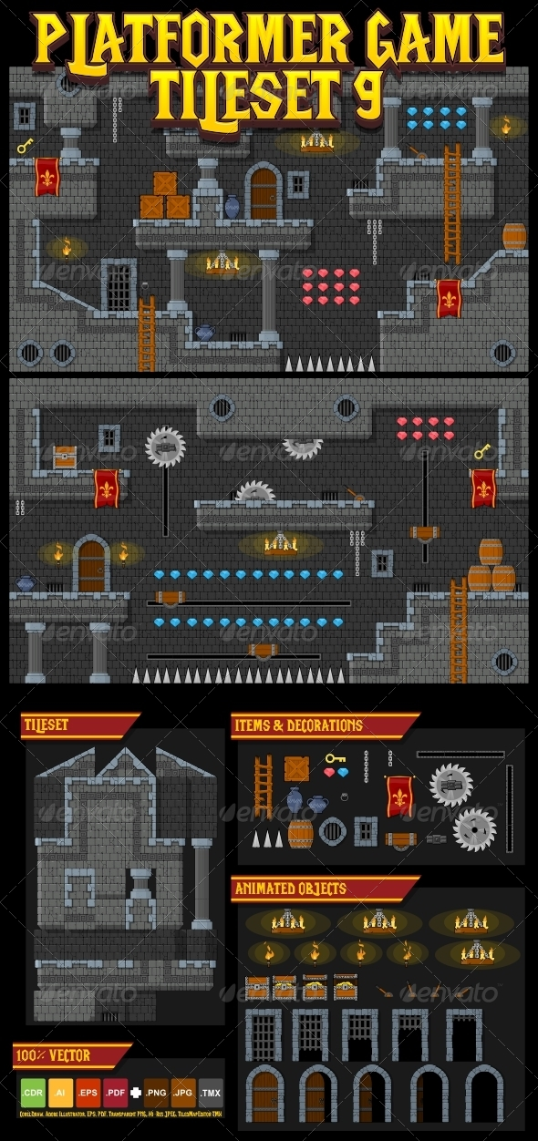 Game Sprites, Assets & Backgrounds from GraphicRiver