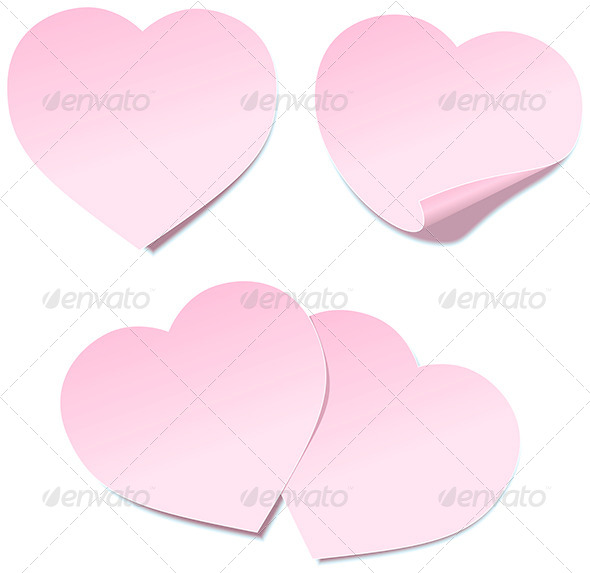 Heart Self Stick Notes