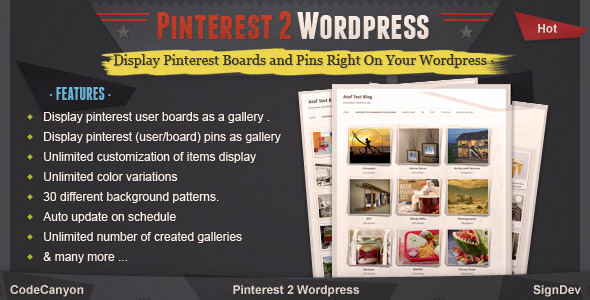 Pinterest to WordPress - WordPress Pinterest Gallery Plugin