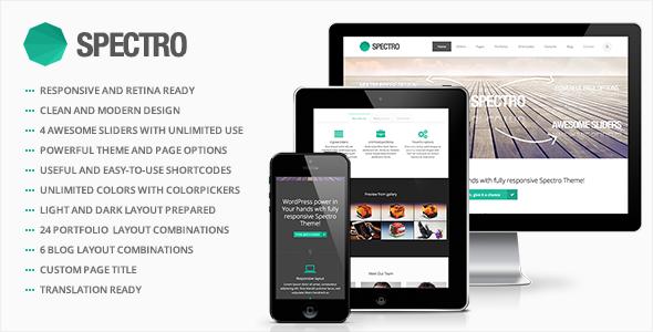 Spectro - Responsive Multi-Purpose WordPress Theme