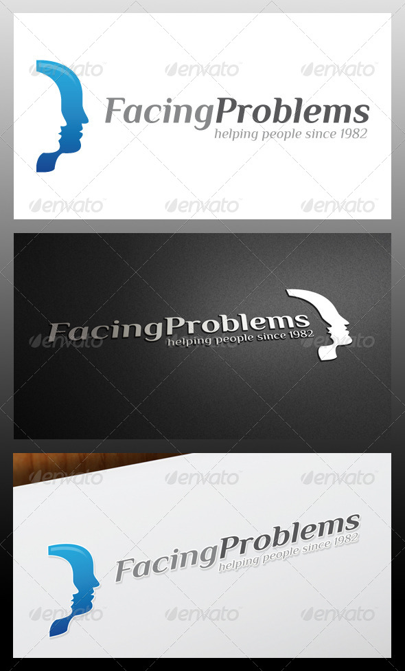 Facing Problems Logo Template