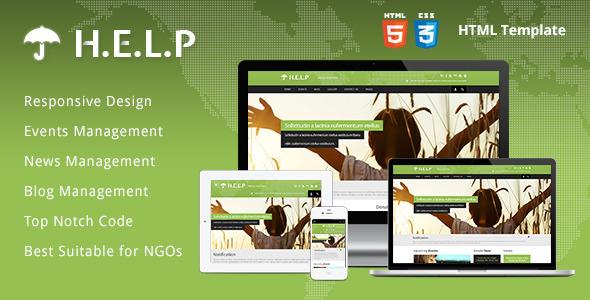 HELP - NGO HTML Template