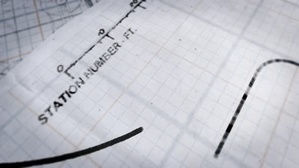 Ink Line Appears on Graph Paper Scientific Transition of the Draft Design Plan