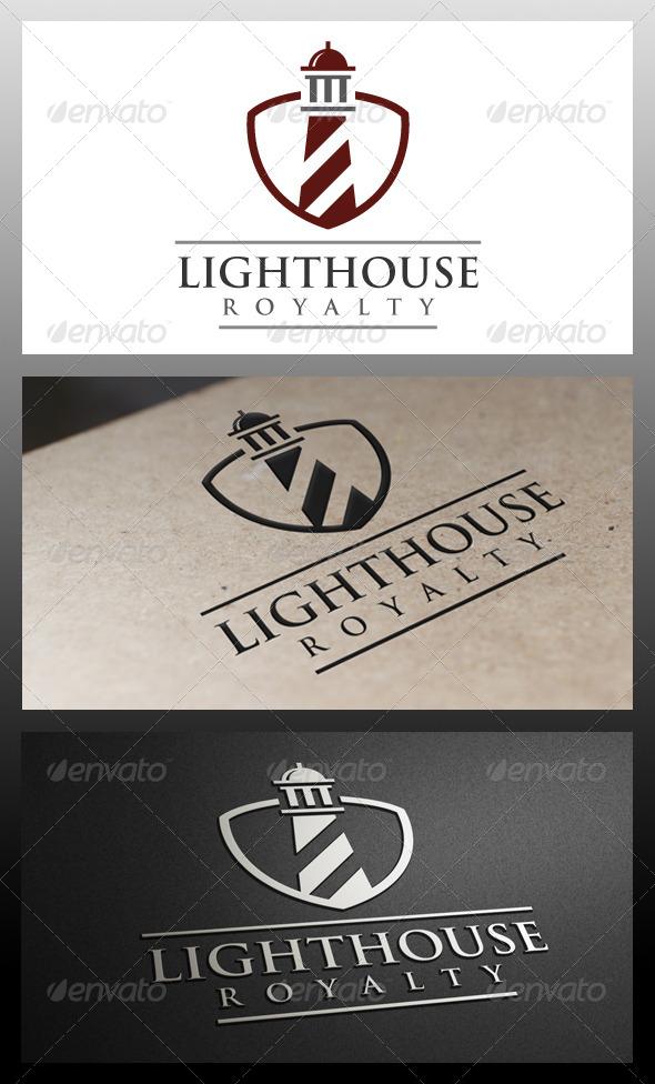 Lighthouse Shield Logo Template