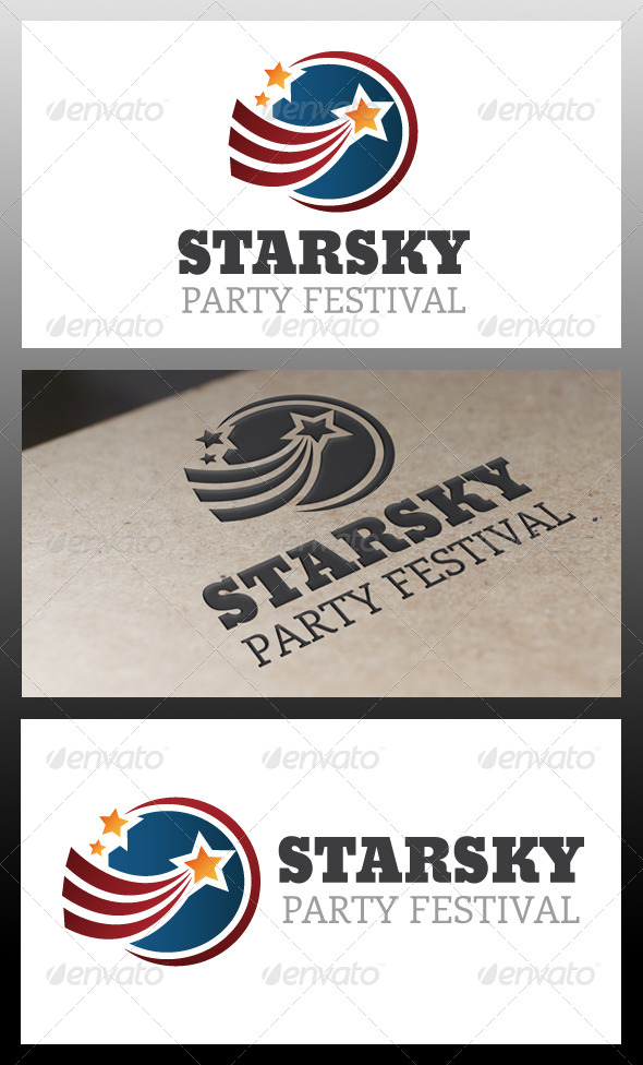 Stars Sky Logo Template