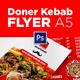Doner Kebab A5 Flyer - GraphicRiver Item for Sale