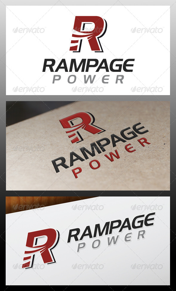 Rampage Letter R Logo Template
