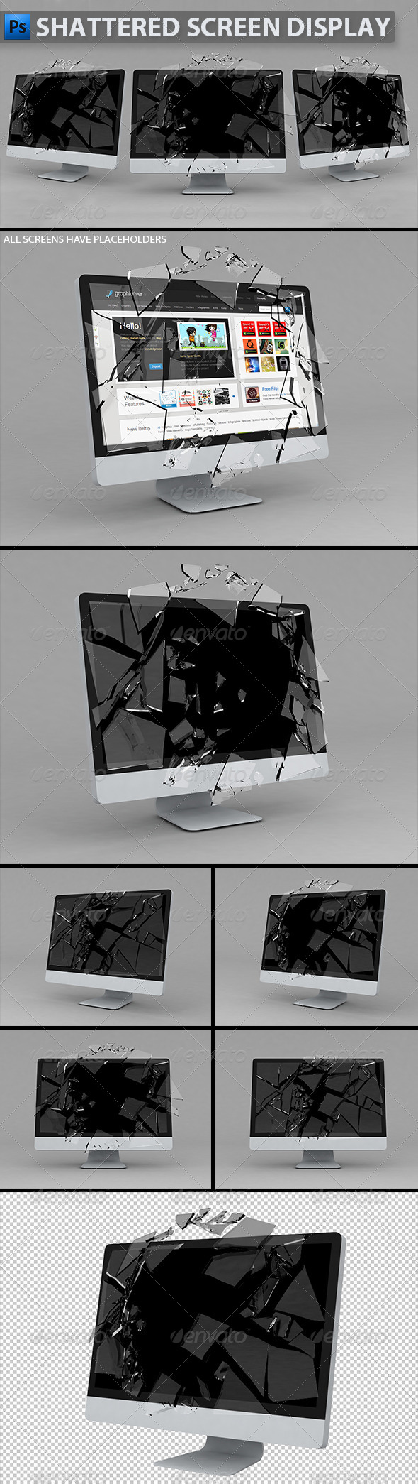 Shattered Graphics, Designs & Templates from GraphicRiver