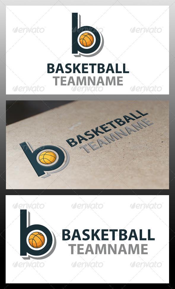 Basketball Letter B Logo Template